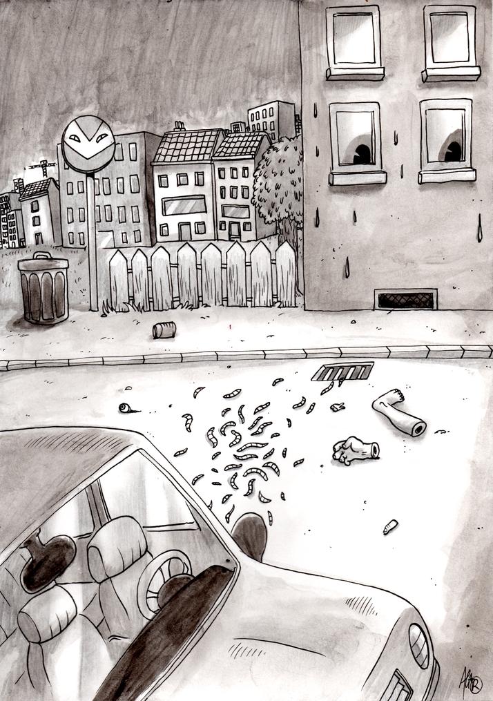Street murder